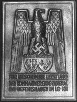 """Плакета """"За выдающиеся заслуги во времяслужбы в XII воздушном округе"""""""