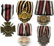 Варианты одиночных колодок Креста Чести