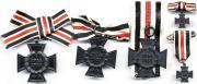 Варианты крепления Креста Чести для вдов и его миниатюры
