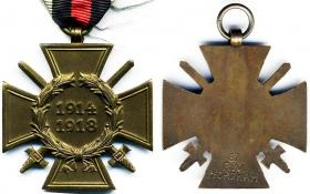 Крест Чести 1914-1918 для фронтовиков (с мечами)