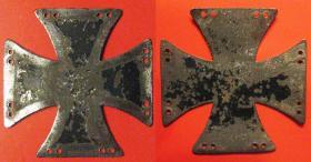 Солдатский Кульмский крест из собрания лейб-гвардии Конного полка (до революции там находилось 7 подлинных солдатских Кульмских крестов). До 1990-х годов хранился в Артиллерийском историческом музее. Сейчас в частной коллекции.  Размер 39,25 х 39,25 мм, вес 3,3 гр.