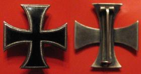 Офицерский, уменьшенный, Кульмский крест изготовленный частным порядком. Размер 25 х 25 мм. Серебро, эмаль
