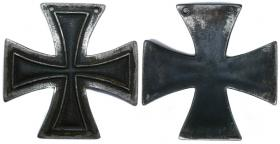 "Солдатский Кульмский крест (изображение взято из Интернет-каталога 36 нумизматического аукциона АД ""Гелос""). Железо, чернение, 13,51 гр. Размер 43х43 мм."