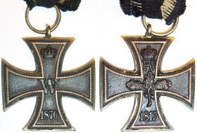 Железный крест 2-й степени образца 1870 года.