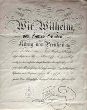 Один из двух существующих вариантов стандартного бланка официального документа на Железный крест 1870 года