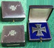 Некоторые из видов футляров от Железного креста 1-й степени образца 1914 года. (Коробки с наклеенным крестом относятся к последнему периоду войны).