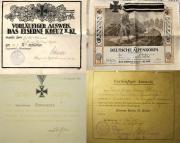 Некоторые из видов наградных документов на Железный крест