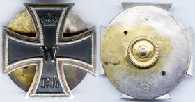 Цельноштампованный Железный крест 1-й степени образца 1914 года, на винте