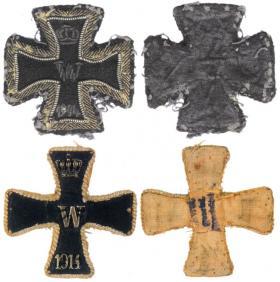 Шитые разновидности Железного креста 1-й степени образца 1914 года