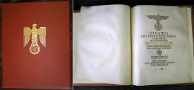 Наградная папка на Рыцарский крест Железного креста (имя награждённого набиралось по буквам сусальным золотом)
