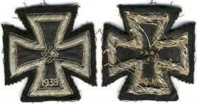 Шитая версия Железного креста 1-й степени образца 1939 года