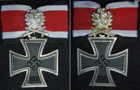 Рыцарский крест Железного креста с дубовыми листьями, мечами и бриллиантами и Рыцарский крест Железного креста с золотыми дубовыми листьями, мечами и бриллиантами (Реплики)