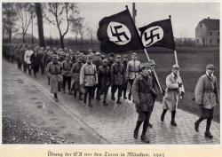 Шествие под партийными флагами (1923 год)