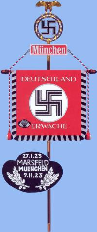 """Штандарт SA """"Мюнхен"""" с почётной нашивкой за 9 ноября 1923 года"""