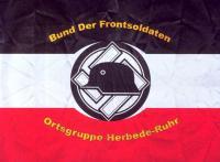 Вариант флага орстгруппы союза фронтовиков «Стальной шлем» (использовался с 1934 до 1935 года)