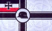 Ранний вариант флага союза фронтовиков «Стальной шлем» (использовался до 1934 года)