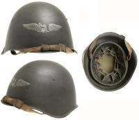"эмблема Люфтшуц на советском стальном шлем СШ-39 (""Трёхклёпка"")"