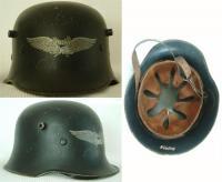 каска первой мировой войны с эмблемой люфтшуц