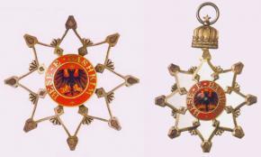 Большая звезда и нашейный Знак ордена Чёрного орла