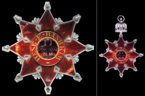 Командорская звезда и нашейный Знак ордена Чёрного орла