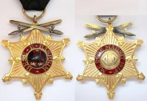 Рыцарский нагрудный ордена Чёрного орла с мечами (?)