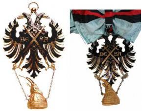 Шейный знак 1 степени ордена Беса образца 1926-1939 гг (с бантом и без)