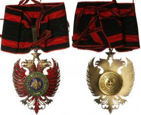 Знак ордена Скандербега периода итальянской оккупации. Степень Командора