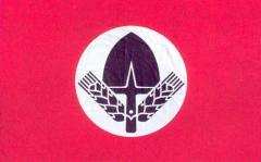 Лагерное знамя мужской секции RAD