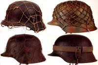 Зимний камуфляжная сетка на касках, Вторая мировая война