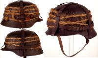 Камуфляжная маскировка на каске, Вторая мировая война