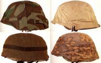 Камуфляжные чехлы на каски, Вторая мировая война