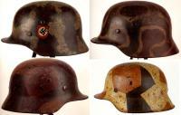 Варианты камуфляжного окраса на шлемах, Вторая мировая война